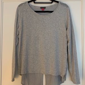 Vince Camuto Gray Top w/ Button Down Detail